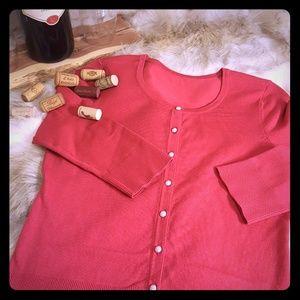 White House Black Market Reddish Pink Cardigan